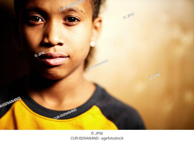 Boy looking at camera