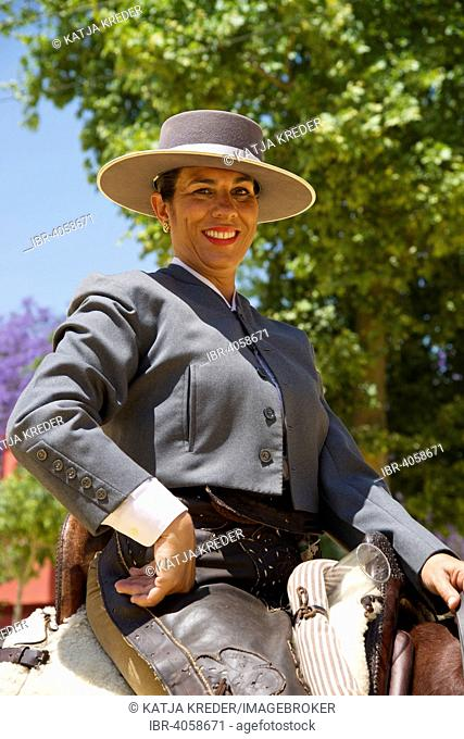 Rider in the Feria del Caballo, Jerez de la Frontera, Andalusia, Spain
