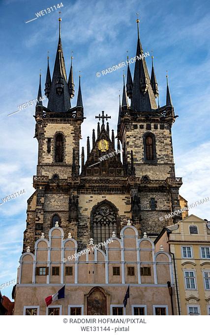 Church of Our Lady before Tyn Tyn Church in the Old Town, Prague, Czech Republic, Europe