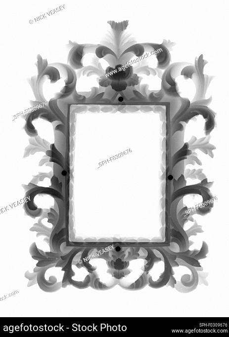 Gilt frame mirror, X-ray