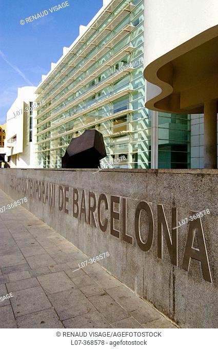 Museu d'Art Contemporani de Barcelona MACBA (Museum of Contemporary Art). Barcelona. Spain