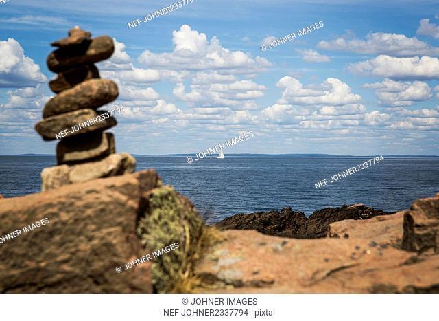 Stack of stones, Hovs Hallar, Bjarehalvon, Skane, Sweden