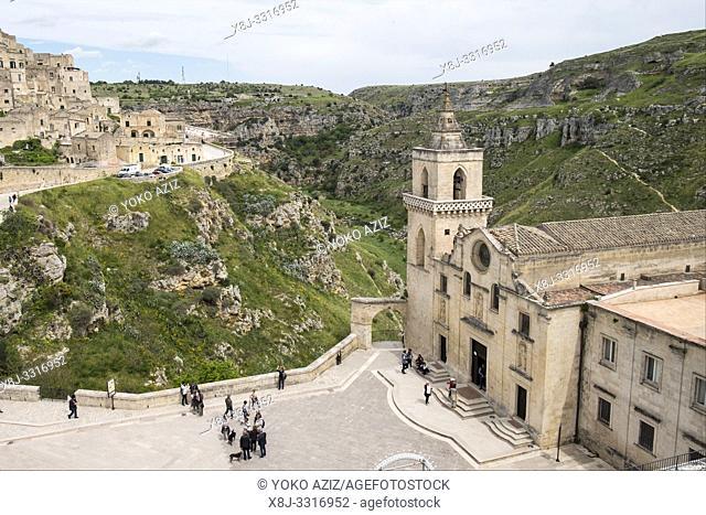 Italy, Matera, San Pietro Caveoso church