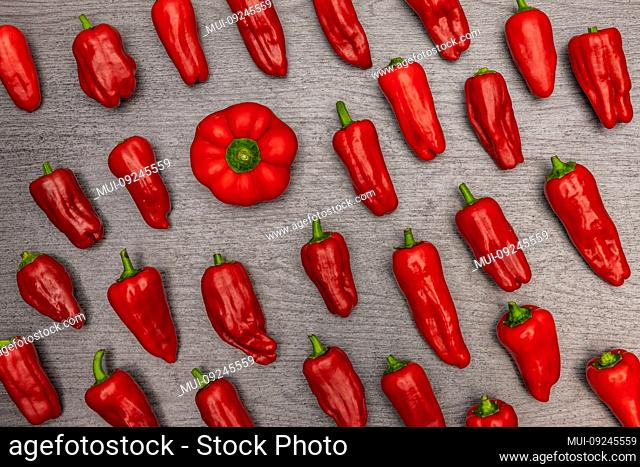 Chili peppers on a dark background