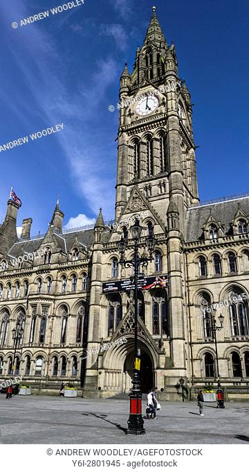 Town Hall Albert Square Manchester England