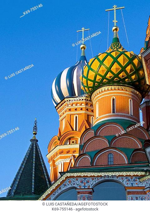 Onion domes, St. Basil' Cathedral, Red Square, Moscow, Russian Federation