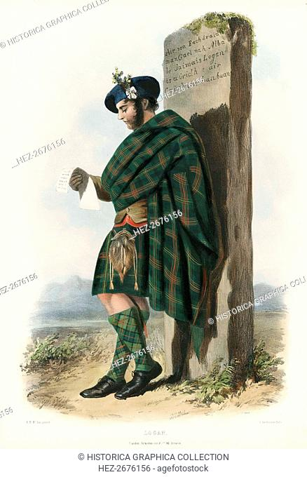 Logan, from The Clans of the Scottish Highlands, pub. 1845 (colour lithograph)