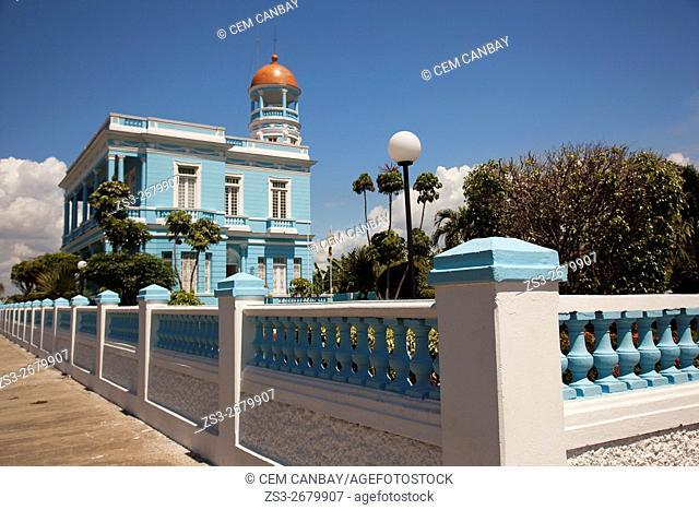 Palacio Azul-Blue Palace at Punta Gorda district, Cienfuegos, Cuba, Central America