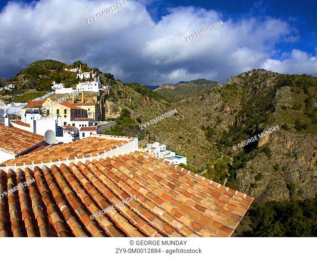 Tiled roof in Frigilaian Village,