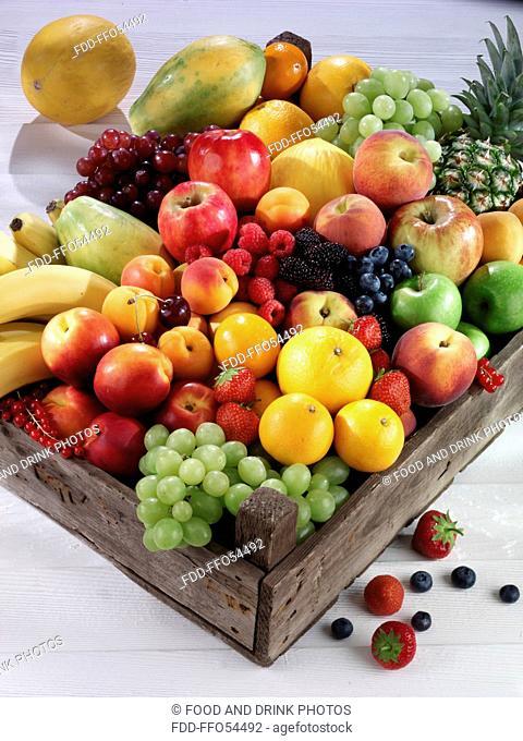 Box Of Fresh Mixed Fruit