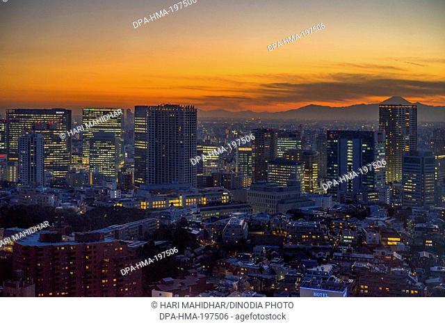 Buildings in tokyo, japan