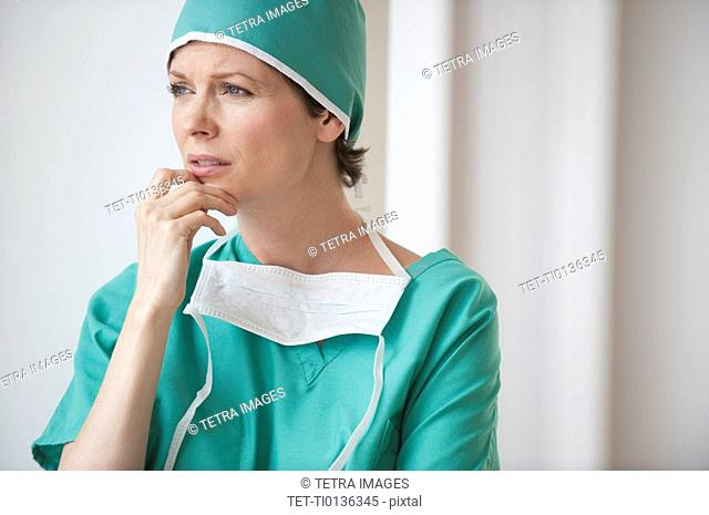 Female doctor looking concerned