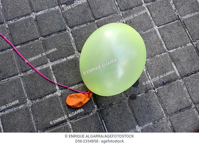 Balloon on the floor, Valencia, Spain