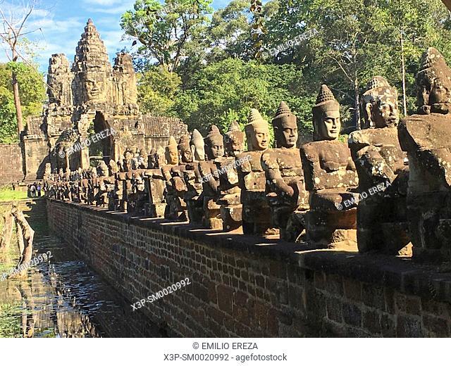 Angkor Thom. Bayon Temple, Cambodia