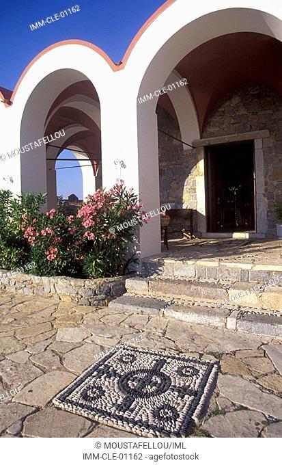 Virgin Mary's Castle, exterior view , Leros, Dodecanese, Greece, Europe