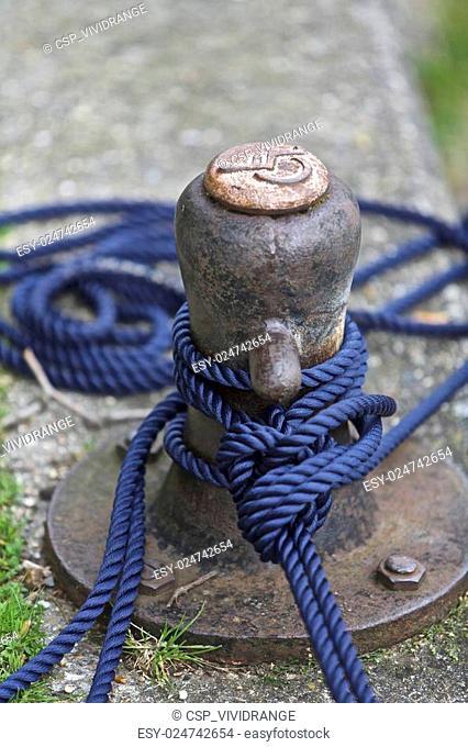 Boat anchored pole