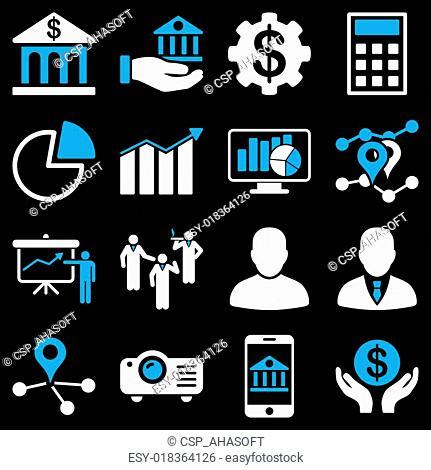 Banking business and presentation symbols