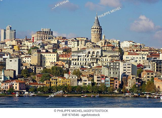 Beyoglu district and Galata tower, Istanbul, Turkey