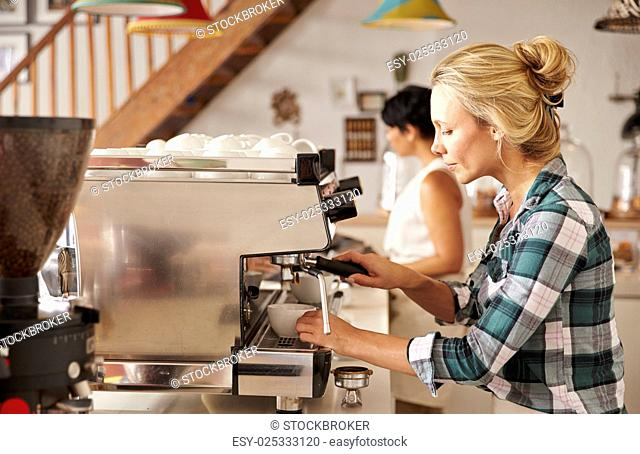 Cafe staff at work