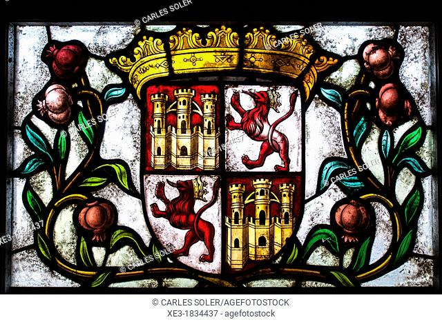 Vidrieras en la Sala de Reyes, Alcázar de Segovia