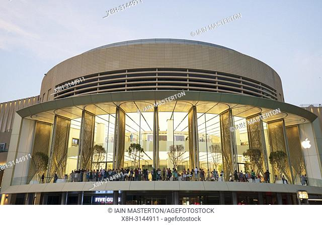 Exterior of the new Apple Store in the Dubai Mall in Dubai, United Arab Emirates