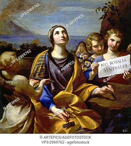 Andrea Sacchi - . Saint Rosalia of Palermo