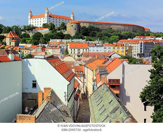 View of old town from St.Michael Gate, Bratislava, Slovakia