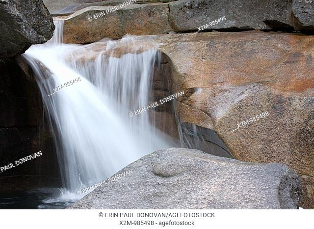 The Basin during the spring months in the White Mountains, New Hampshire USA