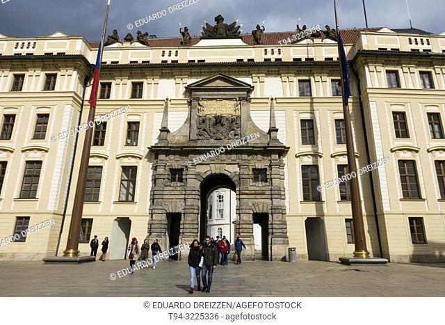 Matthias Gate at the first courtyard of Prague Castle, Prague, Czech Republic