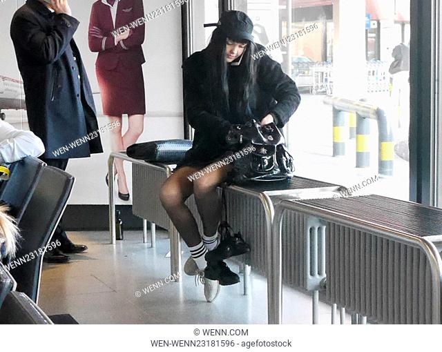 Bonnie Strange checking in at Tegel airport for a flight to Frankfurt/Main Featuring: Bonnie Strange Where: Berlin, Germany When: 19 Nov 2015 Credit: WENN