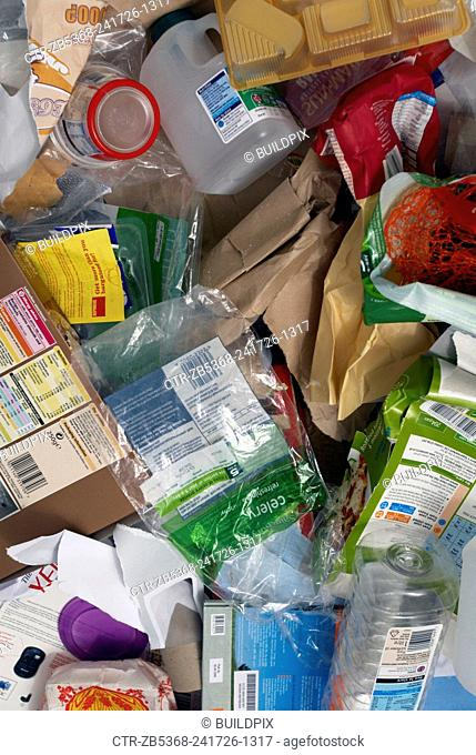 Domestic waste for recycling
