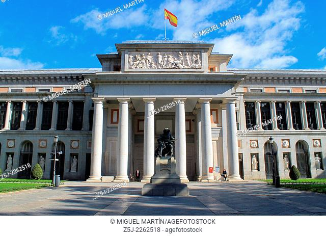 The Museo del Prado in Madrid and monument to Diego Velázquez (1599-1660), maybe the greatest Spanish painter together Francisco de Goya (1746-1828)