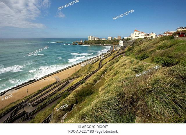 Beach, Cote des Basques, Biarritz, Pyrenees-Atlantiques, Aquitaine, France