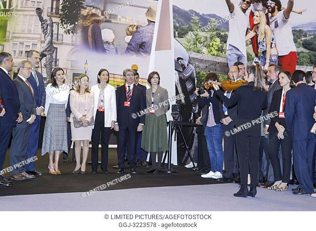 King Felipe VI of Spain, Queen Letizia of Spain attended the Opening of Internacional Tourism Fair (FITUR) at Feria de Madrid on January 23, 2019 in Madrid
