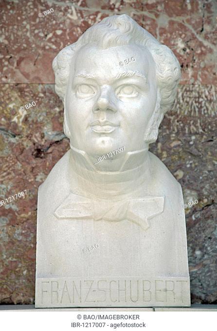 Bust of Franz Schubert, Austrian composer