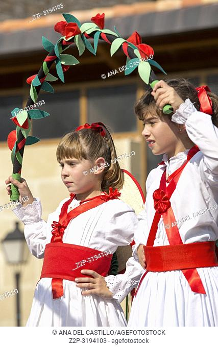 Dancing children During the festivities in Alcala de la Selva village there are multiple acts, such as street dances in pilgrimage and old rituals to the Virgin...
