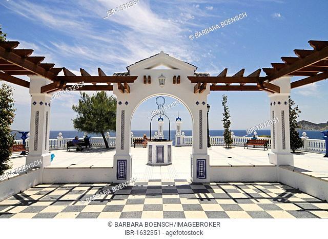 Balcony of the Mediterranean, observation deck, Playa de Levante beach, Benidorm, Costa Blanca, Alicante, Spain, Europe