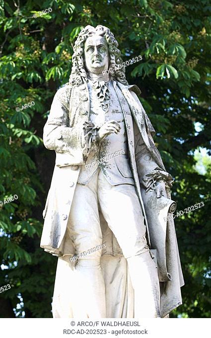 Johann Bernhard Fischer memorial, in front of Vienna Cityhall, Vienna, Austria, Wien