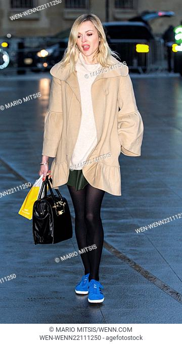 Fearne Cotton arriving at the BBC Radio 1 studios Featuring: Fearne Cotton Where: London, United Kingdom When: 26 Jan 2015 Credit: Mario Mitsis/WENN