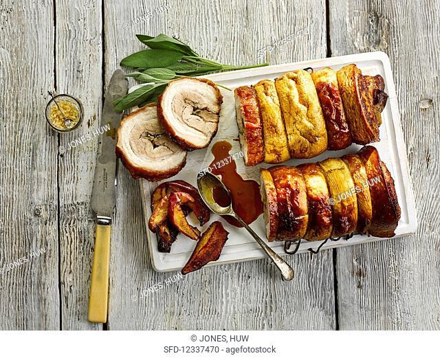 Roast Pork With Caramelised Apples