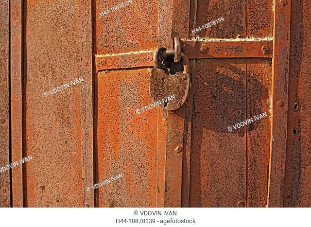 Old lock, Staritsa, Tver region, Russia