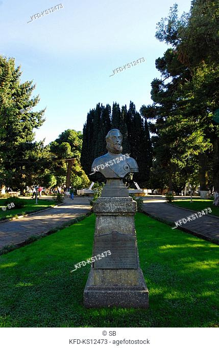 Chile, Cañete, Plaza de Armas, Don García Hurtado de Mendoza Statue, Province of Arauco, Region VIII of Bio Bio, South America