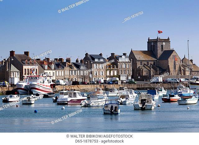 France, Normandy Region, Manche Department, Barfleur, town harbor