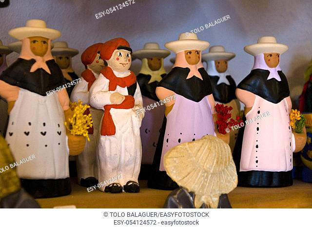 figuras de payeses de barro. Artesania tipica. Sant Miquel de Balansat. Es Amunts. Eivissa. Ibiza. Balearic islands. Spain
