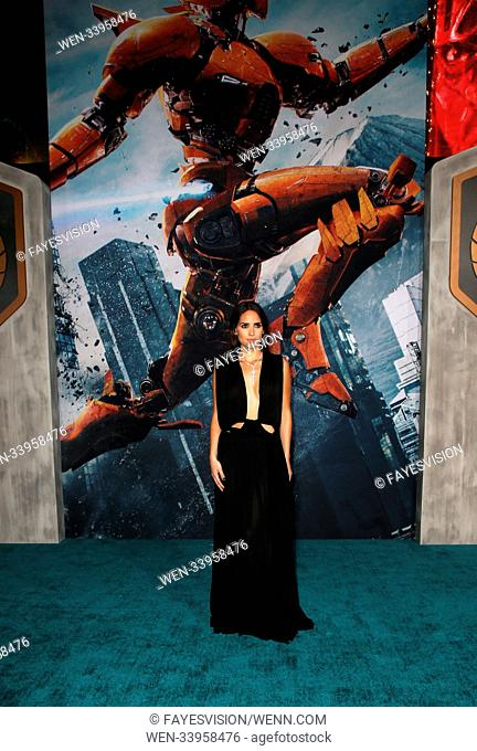 Universal's 'Pacific Rim Uprising' Premiere held at the TCL Chinese Theatre IMAX - Arrivals Featuring: Adria Arjona Where: Hollywood, California