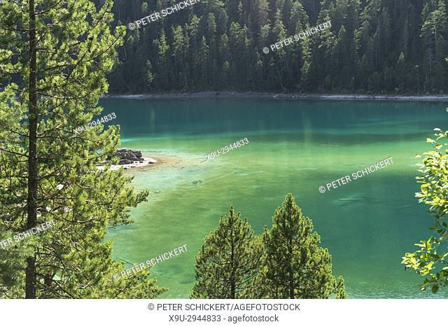 mountain lake Blindsee near Biberwier, Tyrol, Austria