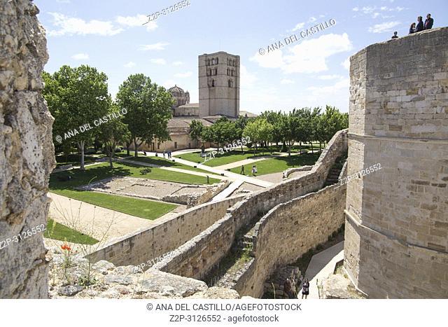 Historic castle in Zamora Castile Leon Spain