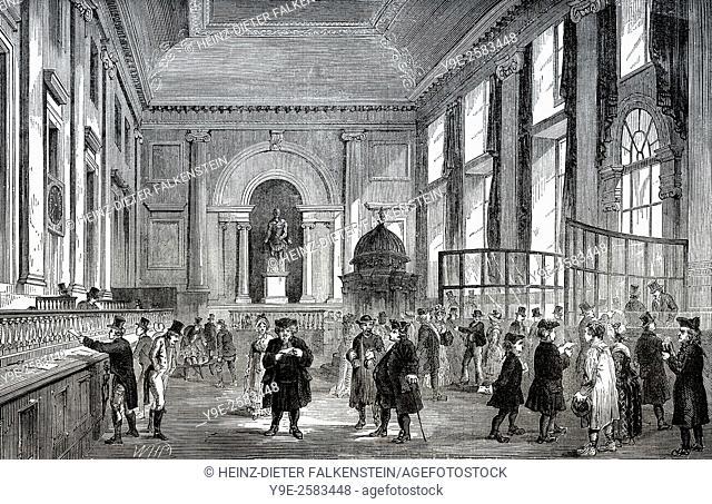 Bank of England, London, Stock Office, 18th century,