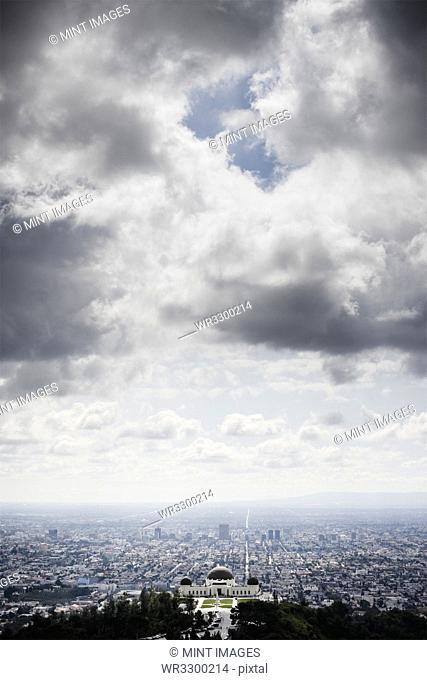 Los Angeles Beneath Cloudy Sky