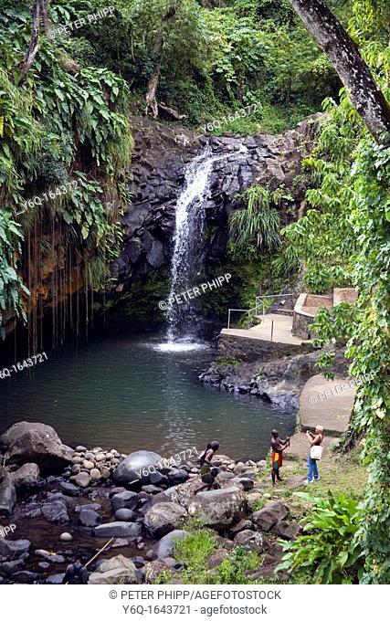Annadale waterfalls in Grenada Caribbean